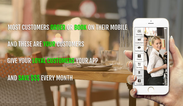 mobile apps for restaurants and cafes